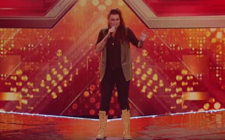 """Monica Michael performs at """"X Factor"""" UK 2015."""