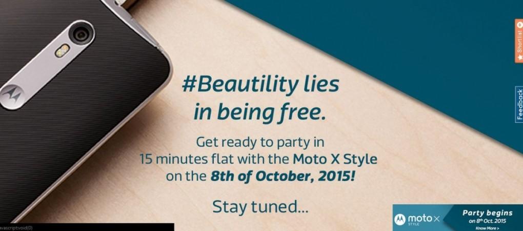 Flipkart reveals Motorola Moto X Style's India release date