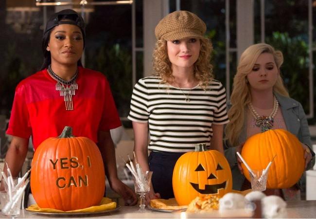 Keke Palmer as Zayday, Skyler Samuels as Grace and Abigail Breslin as Chanel #5 in 'SCREAM QUEENS'