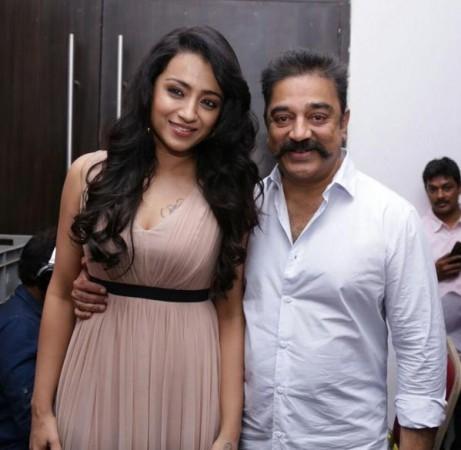 Kamal Haasan with Trisha at Thoongavanam audio launch