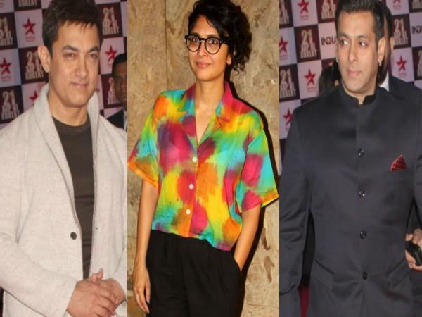 Aamir Khan, Kiran Rao and Salman Khan