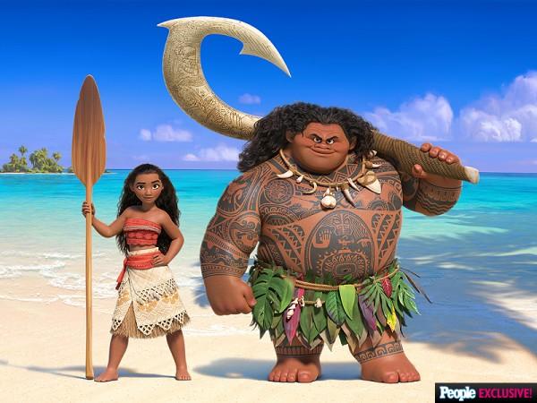 Moana and Maui in 'Moana'