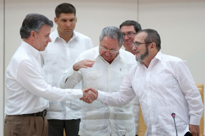 Columbian president Juan Manuel Santos