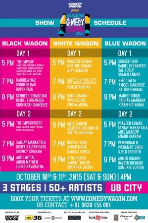 Bengaluru Comedy Festival 2015  schedule