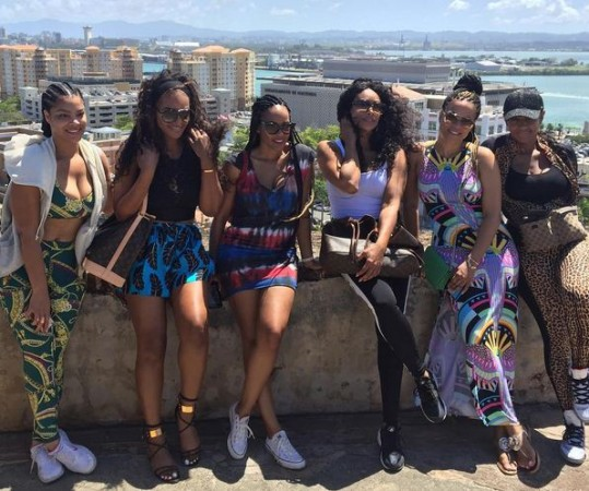 The cast of Basketball Wives LA in Puerto Rico