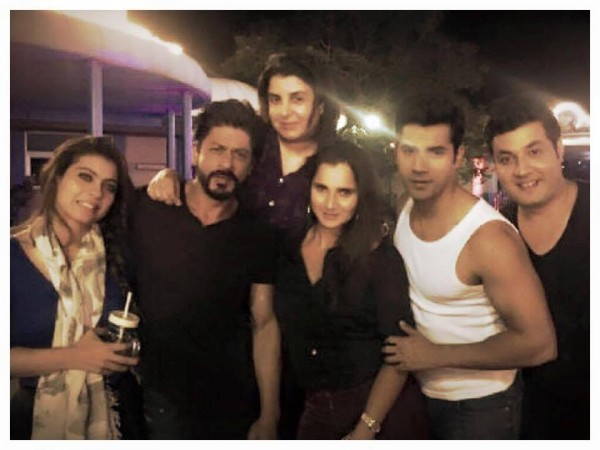 Sania Mirza on Dilwale sets
