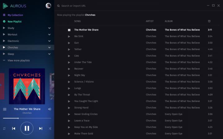 Aurous music streaming app screenshot