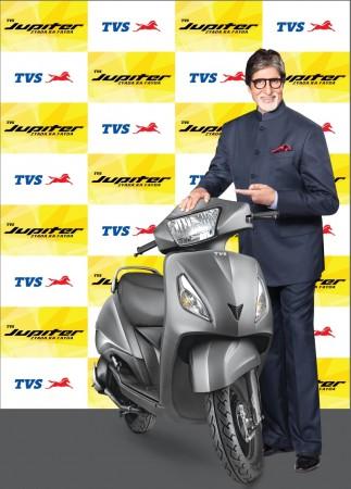 Amitabh Bachchan and TVS Jupiter