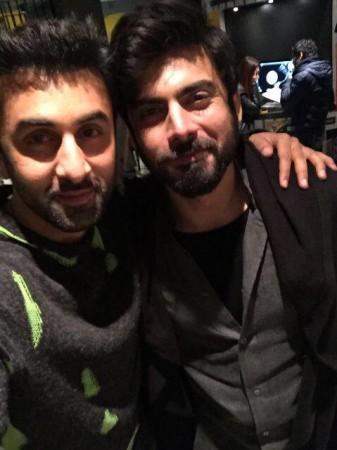 Fawad Khan, Ranbir Kapoor on 'Ae Dil Hai Mushkil' sets