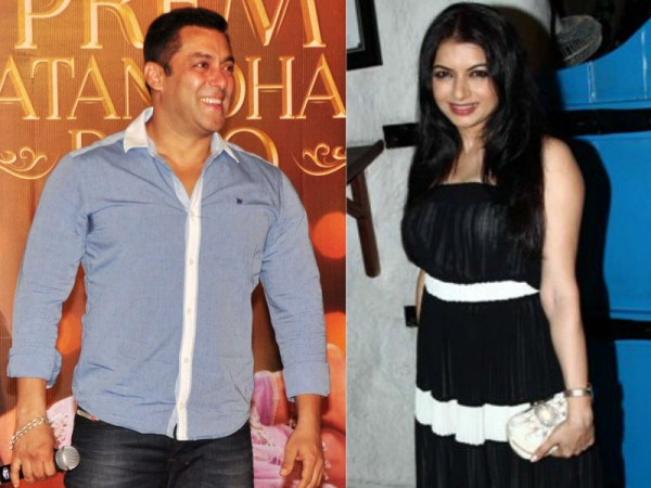 Salman Khan and Bhagyashree
