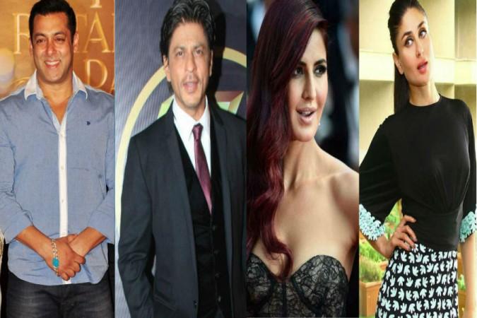 Salman Khan, Shah Rukh Khan, Katrina Kaif and Kareena Kapoor Khan