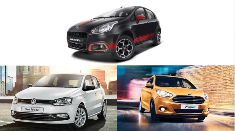 Fiat Abarth Punto, Volkswagen Polo GT TSI, Ford Figo