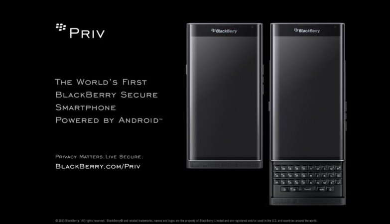 BlackBerry Android smartphone Priv now officially available for pre-order