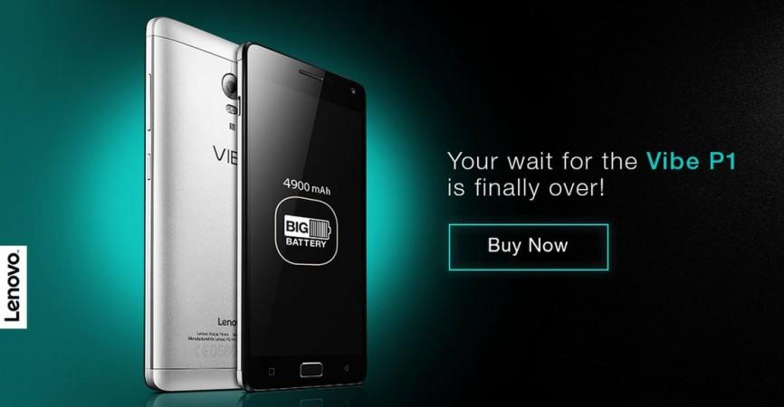 Lenovo Vibe P1 Goes on Sale in India via Flipkart