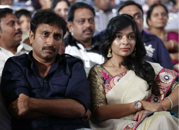 Srinu and Roopa Vaitla at the audio launch of Baadshah