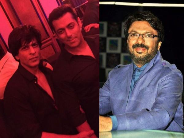 Salman Khan, Shah Rukh Khan and Sanjay Leela Bhansali
