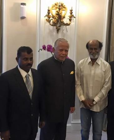 Rajinikanth with Malaysian Governor