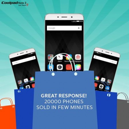 Rs 8,999 Coolpad Note 3 with fingerprint scanner sold out in 5 minutes: When is the next sale?