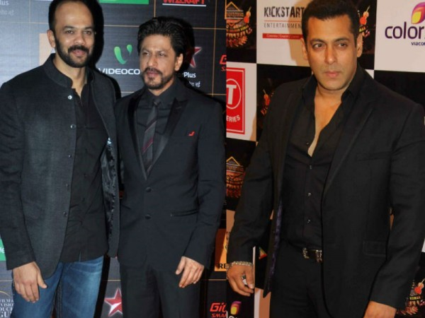 Rohit Shetty, Shah Rukh Khan and Salman Khan