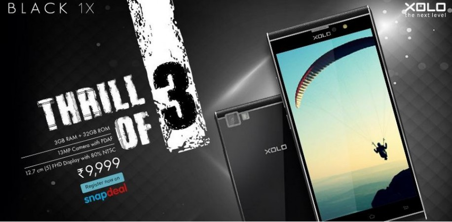 Xolo Black 1X with MediaTek Octa-core SoC, 3GB RAM launched in India; price, specifications