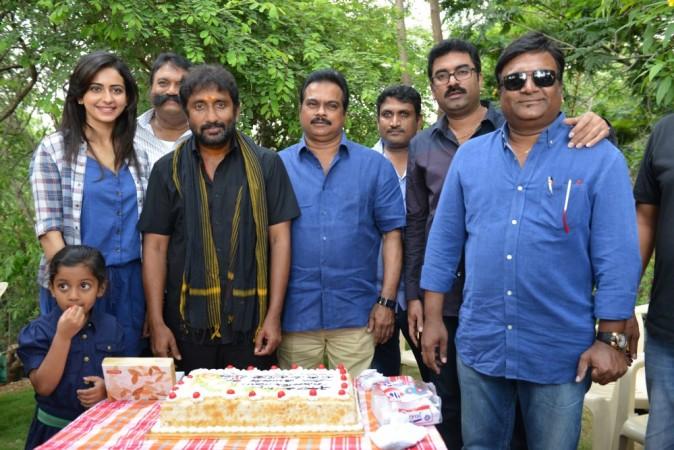 Kona Venkat and Srinu Vaitla with Bruce Lee team