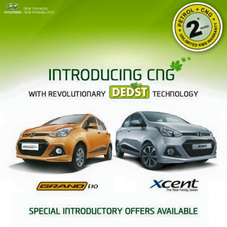 Hyundai Grand i10 and Xcent now get CNG