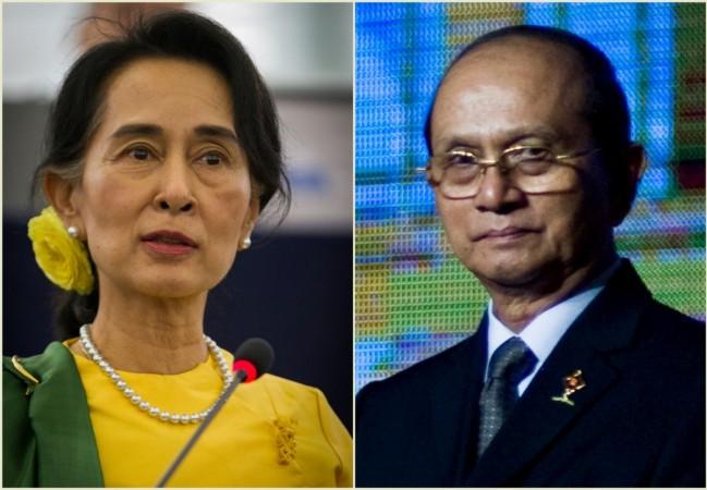 Aung San Suu Kyi and Thein Sein