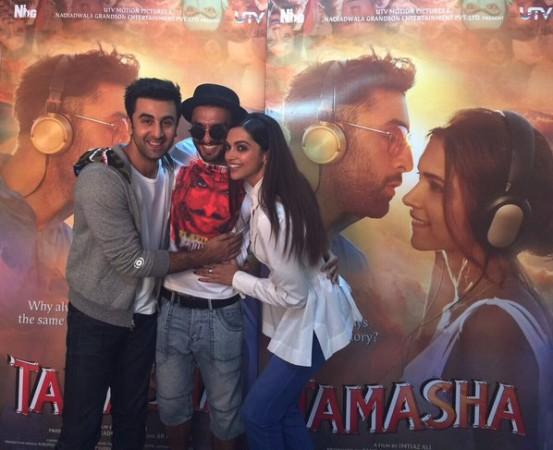 Deepika Padukone, Ranveer Singh and Ranbir Kapoor in single frame