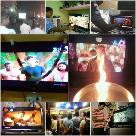 Mahesh Babu fans madness during Srimanthudu TV premiere