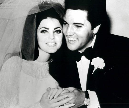 Elvis Presley with former wife Pricscilla Presley