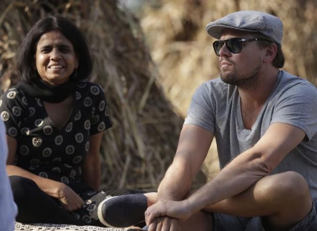 Sunita Narain and Leonardo DiCaprio