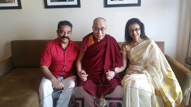 Kamal Haasan with Dalai Lama