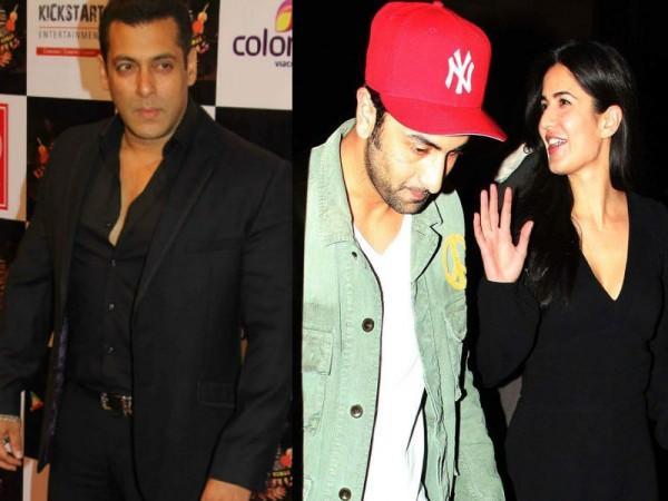 Salman Khan, Katrina Kaif and Ranbir Kapoor