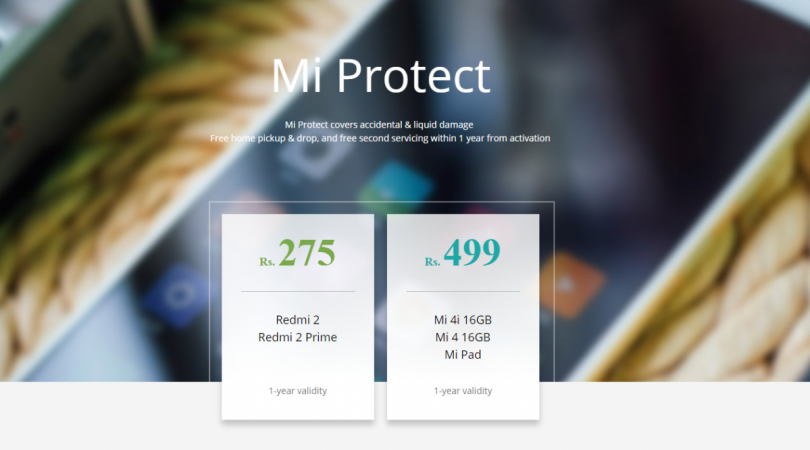 Xiaomi Mi Protect: Insurance for all Mi phones comes to India starting at Rs. 275