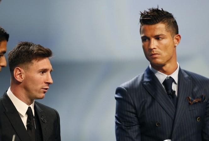 Lionel Messi Cristiano Ronaldo UEFA Awards