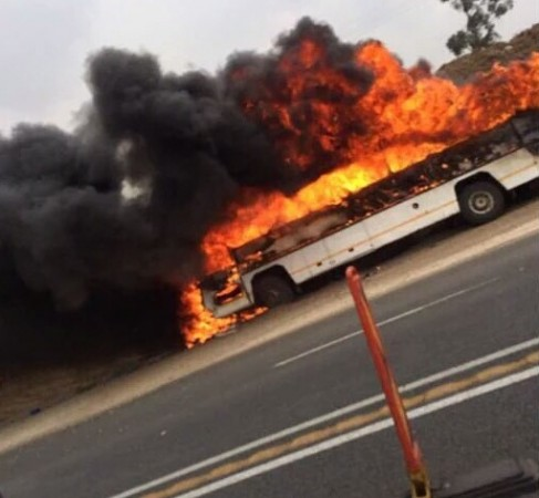 South Africa bus fire