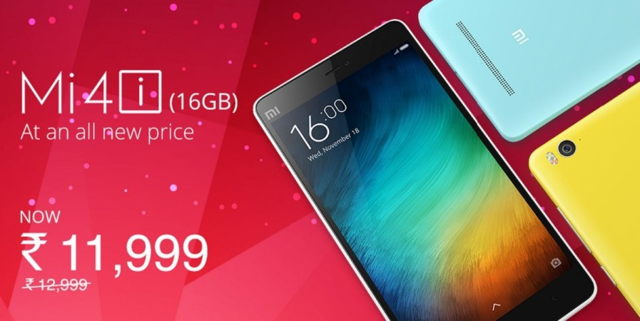 Xiaomi Mi 4i price slashed in India