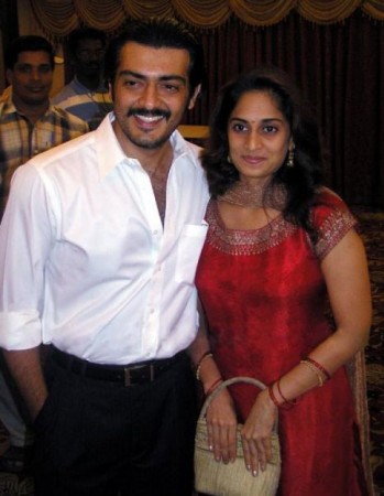 Shalini with Ajith