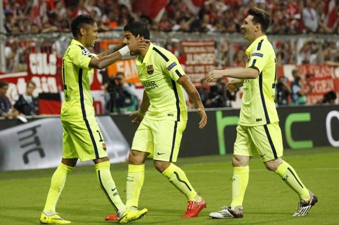 Neymar Lionel Messi Luis Suarez Barcelona
