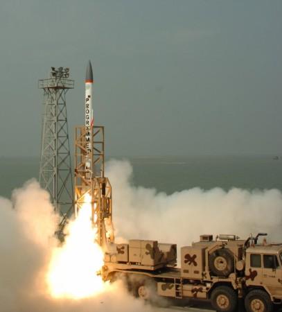 Interceptor missile fired