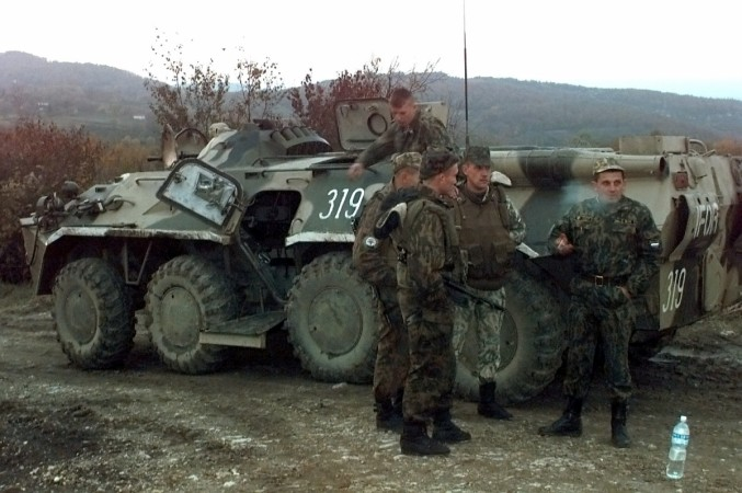 Russian army troops