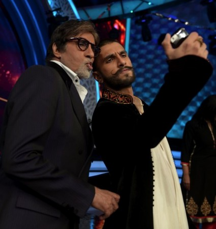 Ranveer Singh and Amitabh Bachchan at 'Aaj Ki Raat Hai Zindagi'