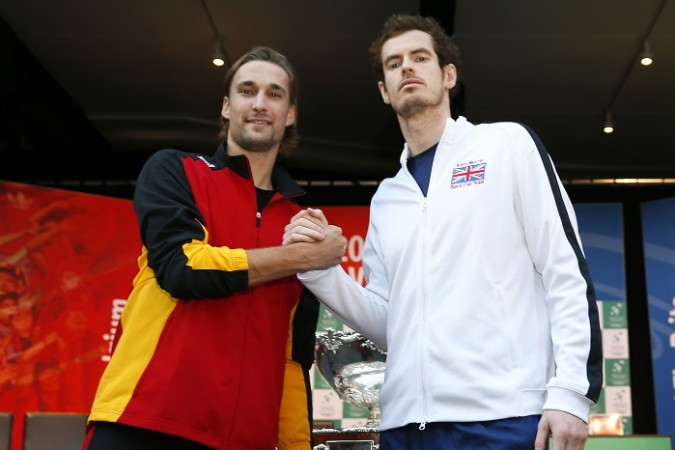 Ruben Bemelmans Andy Murray Belgium Great Britain Davis Cup 2015