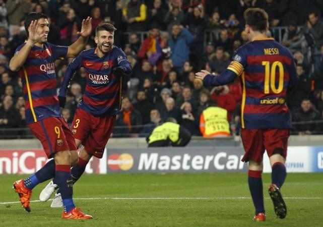 Suarez Pique Messi Barcelona