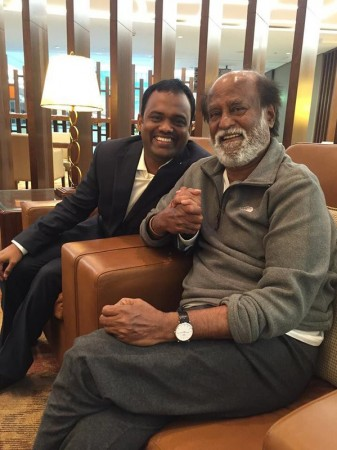 Rajinikanth with Raju Mahalingam