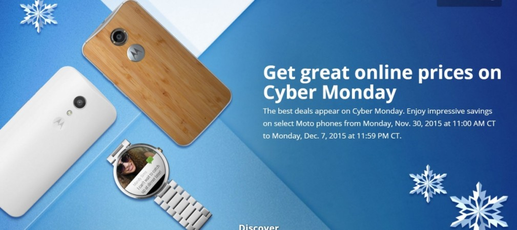 Motorola Cyber Monday Sale (2015) offers 40% discount on Moto G, Moto X, Moto 360