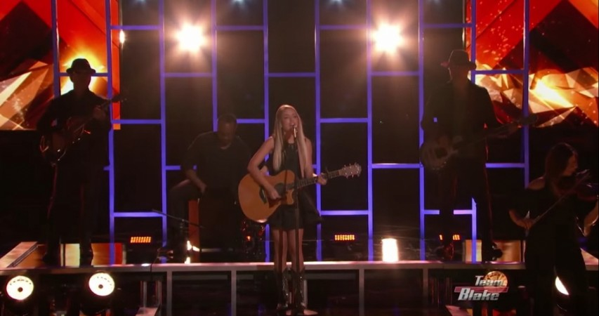 """Emily Ann Roberts performing on """"The Voice"""" USA 2015"""