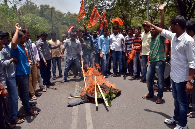 Students protest at Osmania University