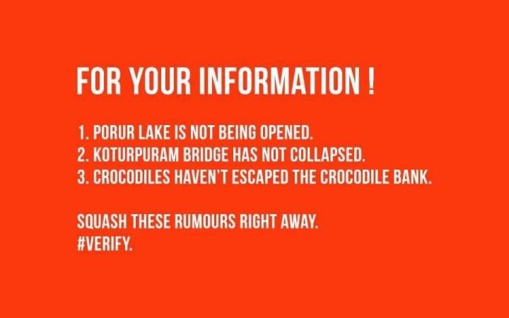 Chennai rumours