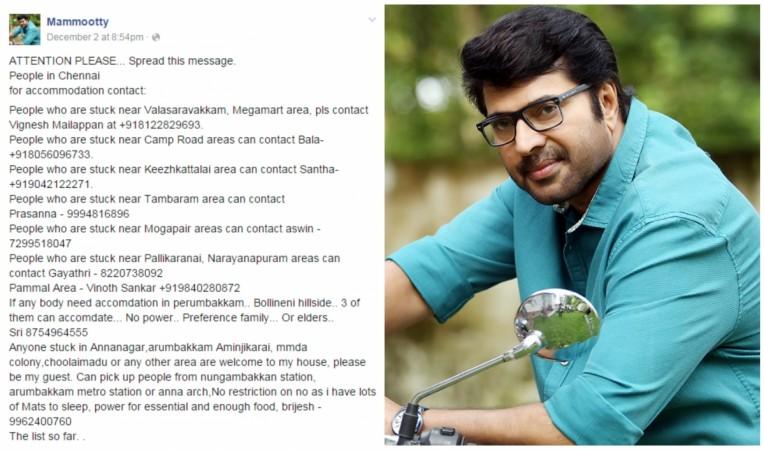 Mammootty helps Chennaites